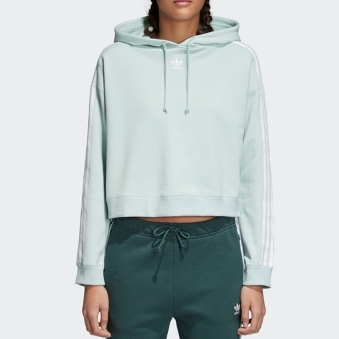 Ash Green Cropped Hoodie