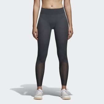 Womens Carbon Grey Warp Knit Tights