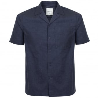 Wood Wood Brandon Navy Shirt 11715312