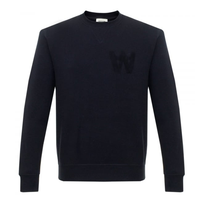 Wood Wood Houston Dark Navy Sweatshirt 10005602-2066