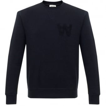 Wood Wood Houston Dark Navy Sweatshirt 10005602-2066