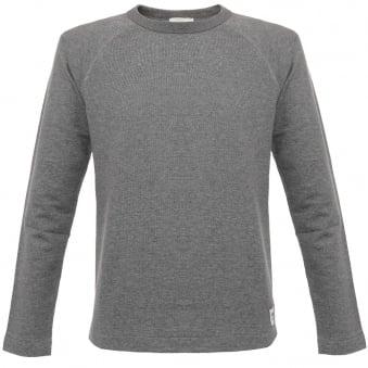 Wood Wood Tyrone Grey Melange Sweatshirt 11635409