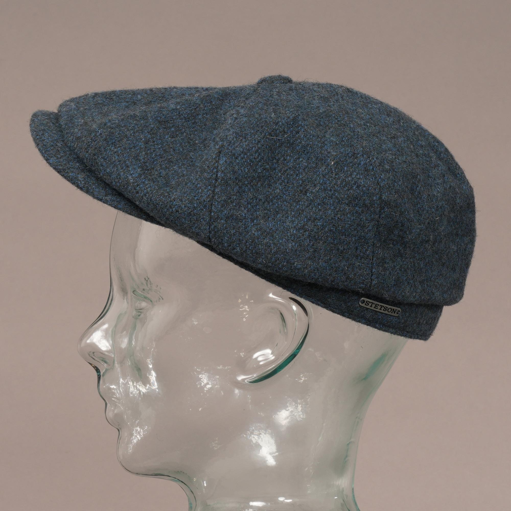 8bd8b166897 Stetson Wool Hatteras Flat Cap (Blue) at Dandy Fellow