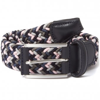 Multi Pink & Grey Woven Belt